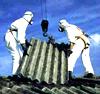 foto di tetto con rimozione di ondulato in eternit
