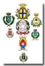 Logo con stemmi dei Comuni della Provincia di Modena