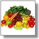Immagine di frutta e verdura, simbolo di una sana alimentazione