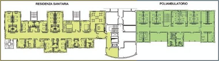 Ausl modena servizio tecnico patrimoniale ospedale di for Planimetrie 1 livello