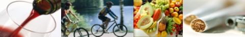 Immagini di stili di vita salutari e non salutari