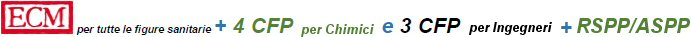 Logo ECM (educazione continua medicina) e CFP (crediti formativi professionali)