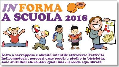 """immagine della locandina """"In forma a scuola 2018"""""""