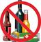 Immagine simbolo no alcol
